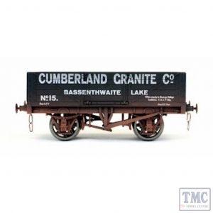 7F-051-049W Dapol O Gauge 5 Plank Wagon Cumberland Granite 15 Weathered