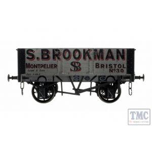 7F-052-001W Dapol O Gauge 5 Plank Wagon 9' Wheelbase S.Brookman 30 Weathered