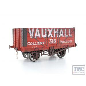 7F-071-009W Dapol O Gauge 7 Plank Wagon Vauxhall Weathered