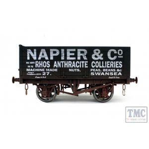 7F-071-019W Dapol O Gauge 7 Plank Wagon Napier Weathered