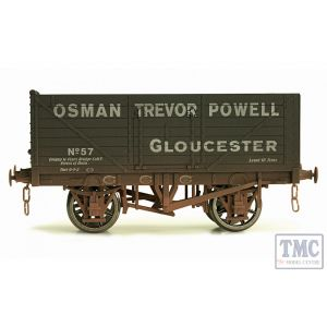 7F-071-021W Dapol O Gauge 7 Plank Wagon Osman Trevor Powell 57 Weathered