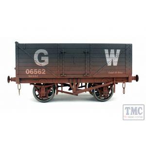 7F-071-033W Dapol O Gauge 7 Plank Wagon GWR 06562 Weathered