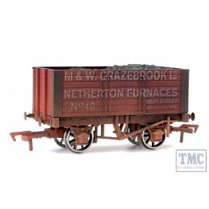7F-072-002W Dapol O Gauge 5 Plank Wagon 9' Wheelbase Lidney Coal Co 9 Weathered