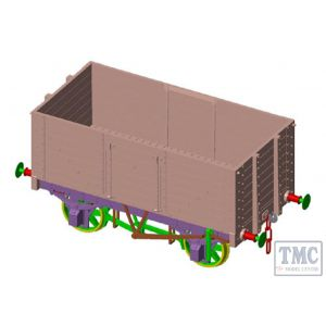 7F-073-001W Dapol O Gauge 7 Plank Wagon 9' Wheelbase Diamond 1130 Weathered