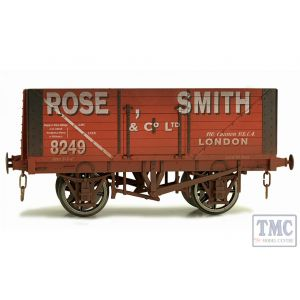 7F-080-016W Dapol O Gauge 8 Plank Wagon Rose Smith 8249 Weathered
