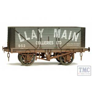 7F-080-019W Dapol O Gauge 8 Plank Wagon Llay Main 952 Weathered
