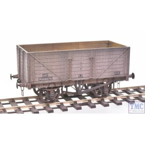 7F-080-023 Dapol O Gauge 8 Plank Wagon BR P308279 with Deluxe Weathering by TMC