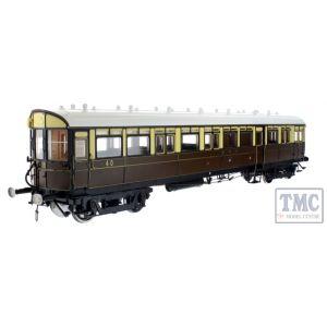 7P-004-006 Dapol O Gauge Autocoach GWR Lined Choc/Cream 40