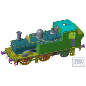 7S-006-002D Dapol O Gauge 48xx Class GWR Shirtbutton Green 4871 (DCC-Fitted)