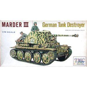 ESCI Marder III  German Tank Destroyer Nr. 8010 1:72 (Pre owned)