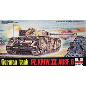 ESCI 1:72 German tank Pz. Kpfw.IV Ausf. G Nr. 8058 1:72 (Pre owned)