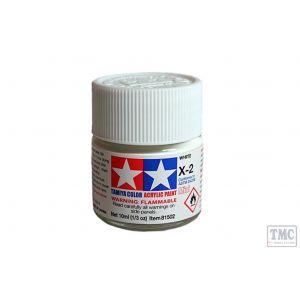 81502 Tamiya Acrylic Mini Paint X - 2 White