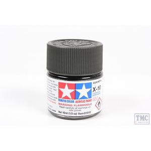 81510 Tamiya Acrylic Mini X-10 Gun Metal