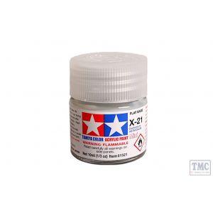 81521 Tamiya Acrylic Mini Paint X - 21 Flat Base