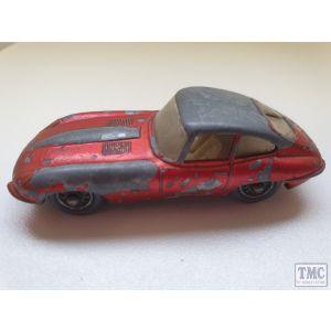 Matchbox Lesney E Type Jaguar (Unboxed, Play worn) (Pre owned)