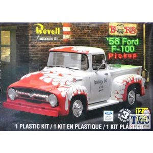 Revell 1:25 '56 Ford F-100 Pickup Kit No 85-4914 (Pre owned)