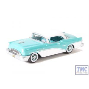 87BC55001 Oxford Diecast 1:87 Scale HO Gauge Buick Century 1955 Turquoise/Polo White