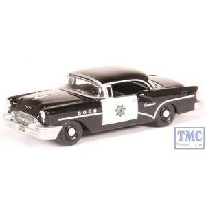 87BC55003 Oxford Diecast HO Gauge Buick Century 1955 California Highway Patrol