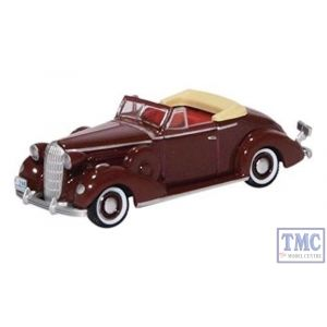 87BS36003 Oxford Diecast HO Gauge Buick Special Convertible Coupe 1936 Cardinal Maroon