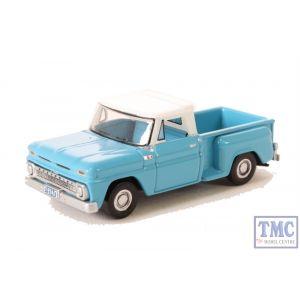 87CP65001 Oxford Diecast 1:87 Scale HO Gauge Chevrolet Stepside Pick Up 1965 Light Blue/White