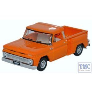 87CP65002 Oxford Diecast HO Gauge Chevrolet Stepside Pick Up 1965 Orange