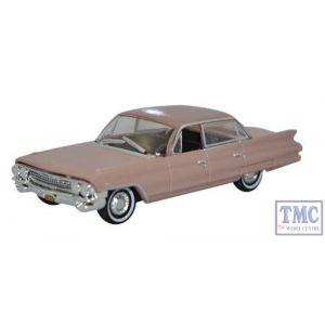 87CSD61001 Oxford Diecast HO Gauge Cadillac Sedan DeVille 1961 Topaz Metallic