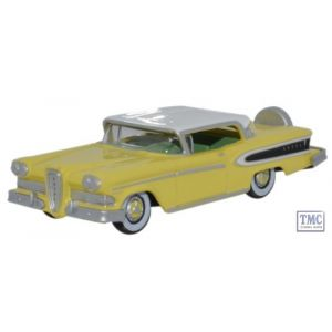 87ED58002 Oxford Diecast Edsel Citation 1958 Yellow_Frost White 1/87 Scale HO Gauge