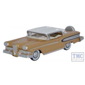 87ED58004 Oxford Diecast Edsel Citation 1958 Gold Metallic Frost White 1/87 Scale HO Gauge