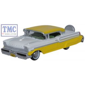 87MT57002 Oxford Diecast 1957 Mercury Turnpike Moonmist Yellow/Classic White 1/87 Scale HO Gauge