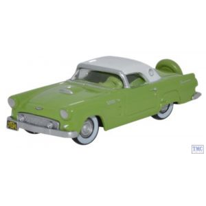 87TH56003 Oxford Diecast Ford Thunderbird 1956 Sage Green_Colonial White 1/87 Scale HO Gauge