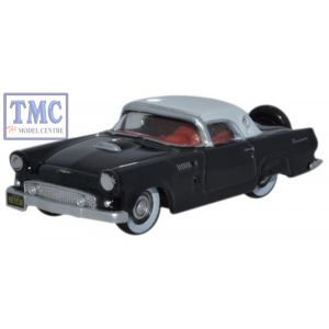 87TH56006 Oxford Diecast 1:87 Scale 1956 Ford Thunderbird Raven Black_Colonial White Ford Thunderbird 1956