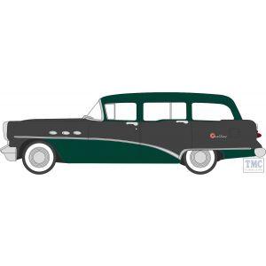 87BCE54002 Oxford Diecast HO Gauge 1:87 Scale Baffin Green/Carlsbad Black Buick Century Estate Wagon 1954
