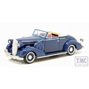 87BS36005 Oxford Diecast HO Gauge 1:87 Scale Musketeer Blue Buick Special Convertible 1936