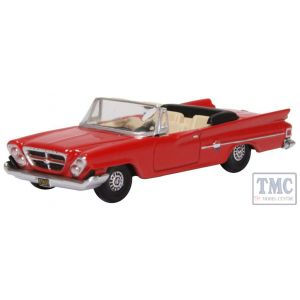 87CC61001 Oxford Diecast HO Gauge Chrysler 300 Convertible 1961 (Open) Mardi Gras Red