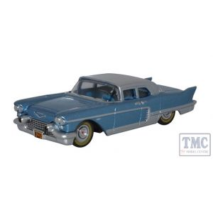 87CE57003 Oxford Diecast HO Gauge 1:87 Scale Copenhagen Blue Cadillac Eldorado Hard Top 1957