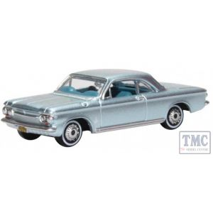 87CH63001 Oxford Diecast HO Gauge Chevrolet Corvair Coupe 1963 Satin Silver