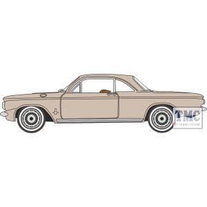 87CH63003 Oxford Diecast  Chevrolet Corvair Coupe 1963 Saddle Tan