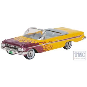 87CI61004 Oxford Diecast 1:76 Scale OO Gauge Chevrolet Impala Convertible 1961 Hot Rod