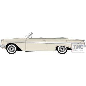 87CI61005 Oxford Diecast  Chevrolet Impala 1961 Almond Beige/White