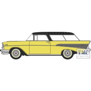 87CN57007 Oxford Diecast  Chevrolet Nomad 1957 Colonial Cream/Onyx Black