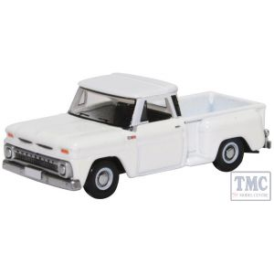 87CP65005 Oxford Diecast 1:76 Scale OO Gauge Chevrolet Stepside Pick Up 1965 White