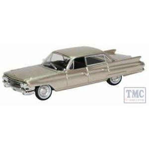 87CSD61002 Oxford Diecast 1:87 Scale Cadillac Sedan DeVille 1961 Aspen Gold Metallic