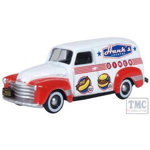 87CV50003 Oxford Diecast  Chevrolet Panel Van 1950 Hanks Country Diner