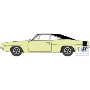 87DC68004 Oxford Diecast  Dodge Charger 1968 Yellow/Black