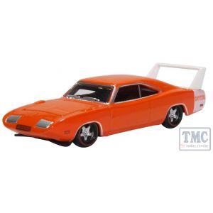87DD69002 Oxford Diecast HO Gauge Dodge Charger Daytona 1969 Orange