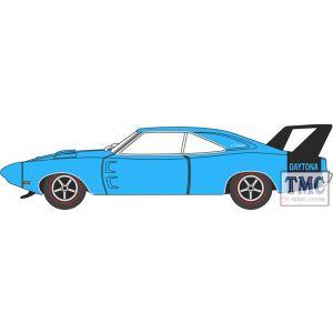 87DD69004 Oxford Diecast  Dodge Charger Daytona 1969 Bright Blue