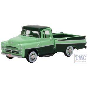 87DP57003 Oxford Diecast HO Gauge Dodge D100 Sweptside Pick Up 1957 Forest Green/Misty Green