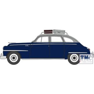 87DS46004 Oxford Diecast  DeSoto Suburban 1946-1948 Butterfly Blue/Crystal Grey
