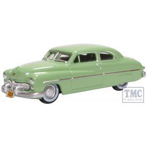 87ME49008 Oxford Diecast  Mercury Coupe 1949 Calcutta Green
