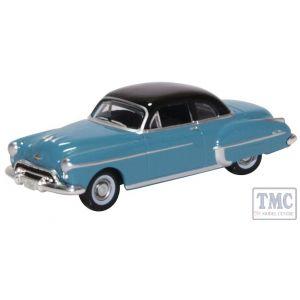 87OR50002 Oxford Diecast HO Gauge Oldsmobile Rocket 88 Coupe 1950 Crest Blue/Black